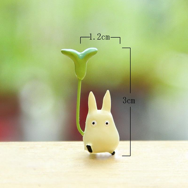 Totoro Con Hoja Figura Linda de Juguete Estudio Ghibli Miyazaki Hayao - Figuritas de juguete - foto 6