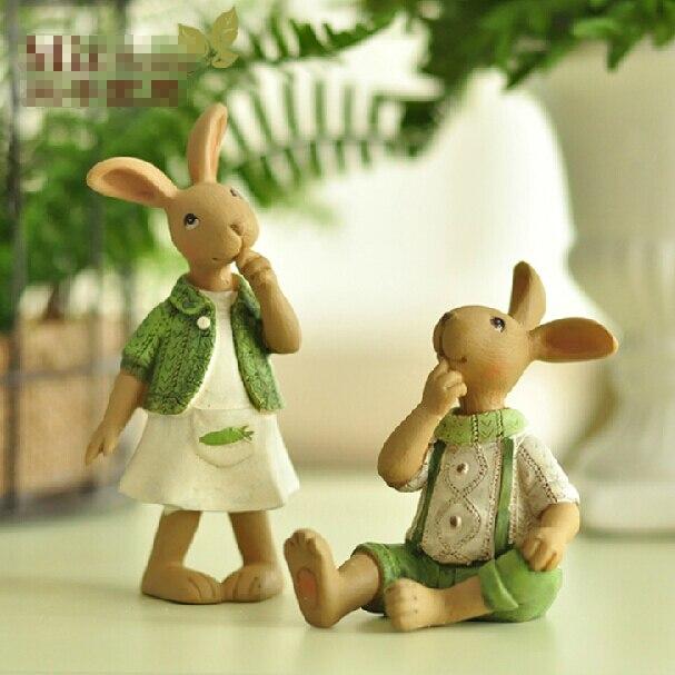 adornos de resina regalos de boda creativo regalo de cumpleaos conejo adornos