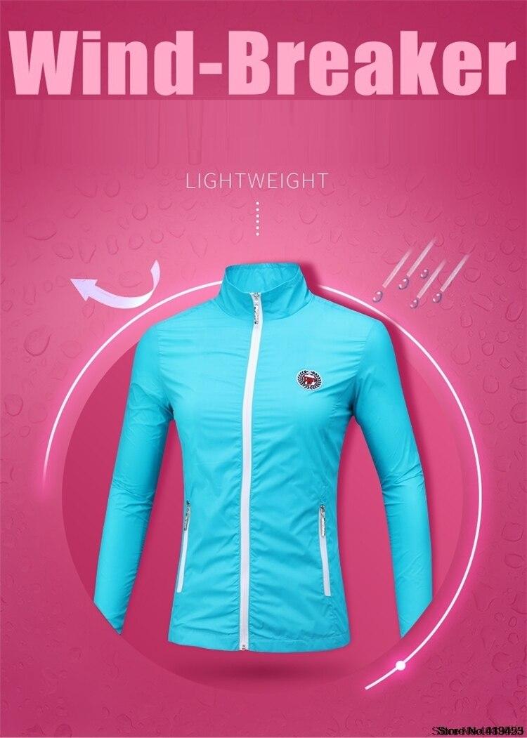 Mulher impermeável jaqueta de golfe protetor solar