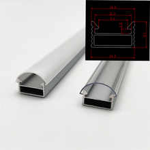 10-100m a lot, 1m per pcs, led aluminum profile for 5050/5630  strips HR-AP1509, flat  housing free shipping milky clear cover