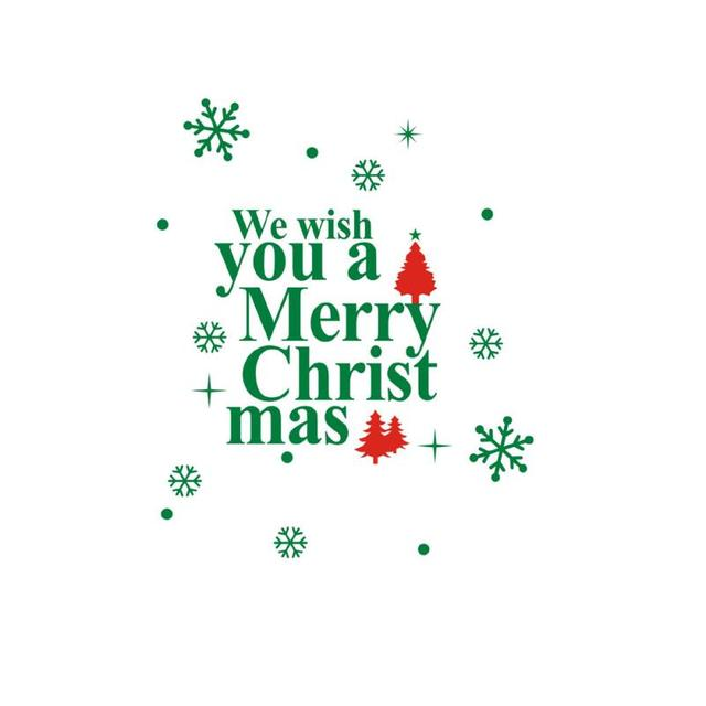 Happy New Year 2017 Merry Christmas good wishes wall window stickers ...