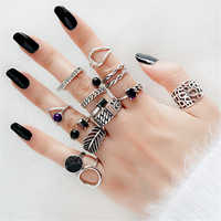 Knuckle Ring Echt 925 Silber Boho Schmuck Vintage Minimalismus Joyas Haut Femme Bague Femme Aneis Punk Ringe für Frauen Anillos