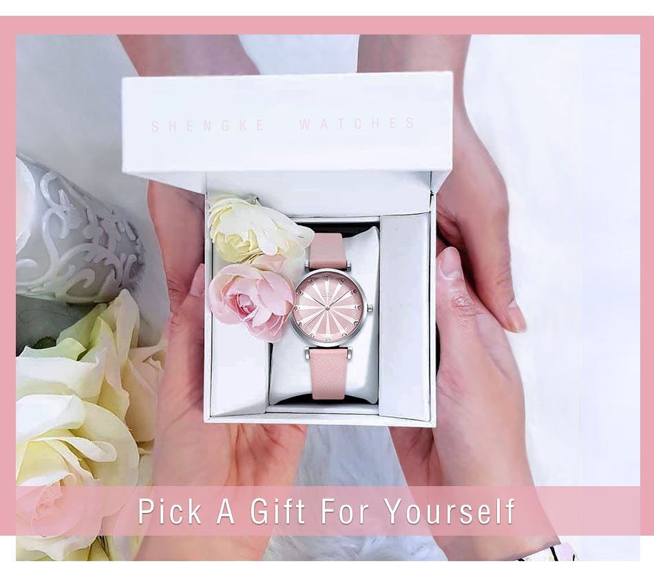 SK Luxury Brand Leather Ladies Wrist Watches Women Prism Quartz Watch For SHENGKE Female Clock reloj mujer 2019 relogio feminino (1)