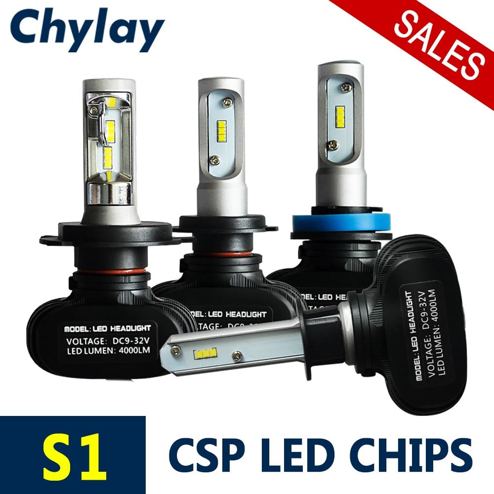 2 stks H7 Led autokoplamp H4 hi / lo beam 9005 9006 H3 H1 H11 Auto mistlamp 50 W 8000LM 6500 K wit licht CSP chips Automobiel Bulb
