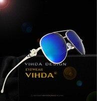 VIAHDA Luxury Diamond Metal Fox Shape Sunglasses Women Brand Designer Aviation Glasses Vintage Coating Sun Glasses