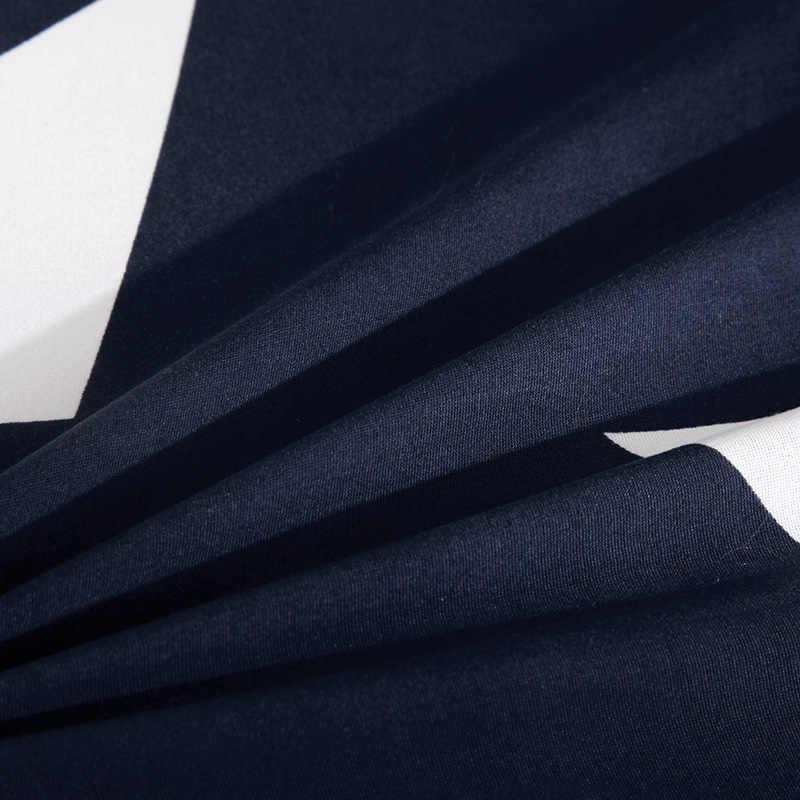 ディープブルー幾何学模様ソファカバーストレッチ家具カバーリビングルームのための弾性コーナー/ソファソファ本のカバー