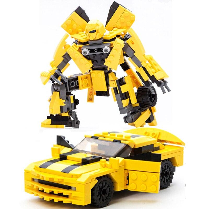 2018 New Movie Transformation Robot Building Bricks Sets DIY Education Blocks Compatible Technic 8711 Gudi new big size 40 40cm blocks diy baseplate 50 50 dots diy small bricks building blocks base plate green grey blue