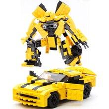 2018 New Movie Transformation Robot Building Bricks Sets DIY Education Blocks Compatible Technic 8711 Gudi