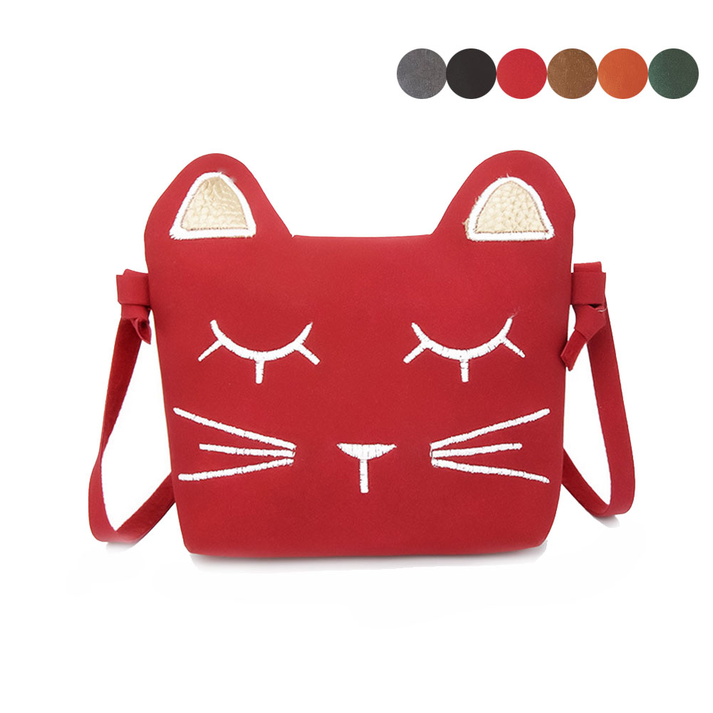 Children PU Leather Cute Cat Ears Coin Purse Mini Shoulder Bag Travel Kids Girls Casual Messenger Bags Gift For Chlidren Popular
