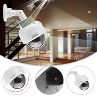VBESTLIFE Dummy Security Camera Indoor Outdoor Fake Surveillance Security Camera Realistic Dome Shape Solar Camera