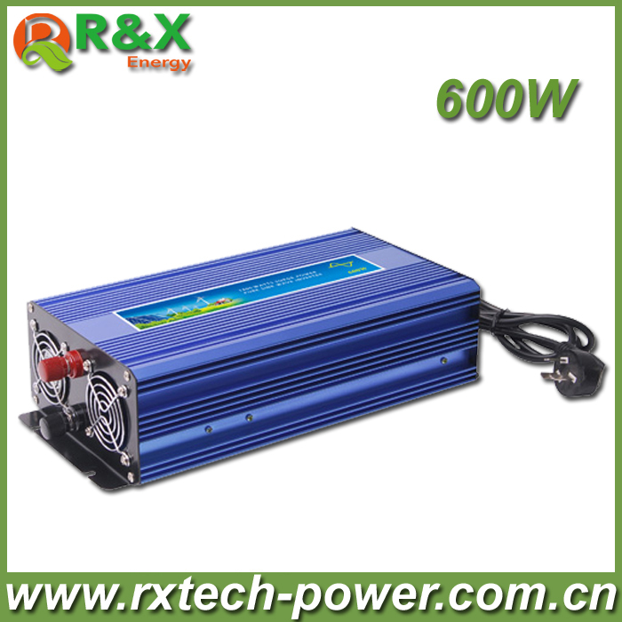 HOT SALE!! 600W Off Grid Inverter Pure Sine Wave Inverter DC12V or 24V or 48V input, Wind Power Inverter wind power generator 400w for land and marine 12v 24v wind turbine wind controller 600w off grid pure sine wave inverter