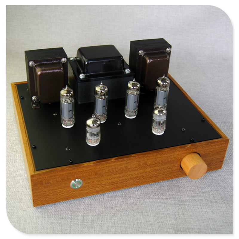 6P14 EL84 10W 2 push pull circuit amplifier tube amp 12AX7 push wooden box amplifier sound