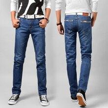 2017 новых сезонов высокое качество мода классический эластичный хлопок джинсы подходят прямые джинсы