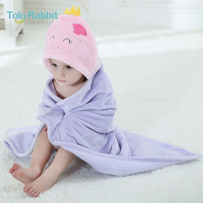Cute Purple Baby Blanket Newborn Wrap Swaddling Animals Photography Winter Warm Quality Infant Receiving