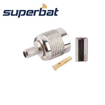 Superbat 10 sztuk RP-TNC wtyczka zaciskowa (trzpień żeński) złącze koncentryczne RF dla kabla RG58 RG142,LMR19
