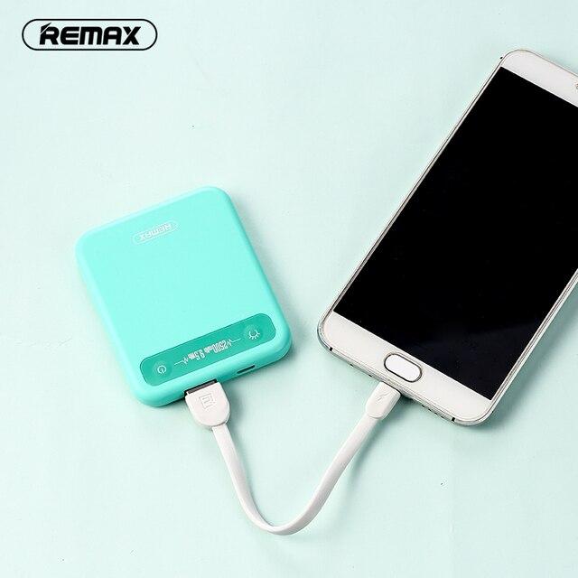 Remax 2500 mAh Pino Petit Téléphone Mobile Grande Capacité Mini Power Bank  Charge Générale Trésor Puissance 5dafa58ac5b4