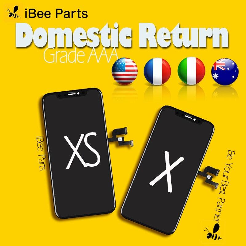 IBee Peças 1PCS Grade AAA Amoled Tela Oled Para o iphone X XS LCD Tela Sensível Ao Toque de Substituição do Conjunto de Vidro Frio quadro