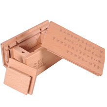 Treasure box safe Wooden Box Puzzle game 3D Luban lock toys For Children Adult Educational Magic Toys Game Stress Reliever
