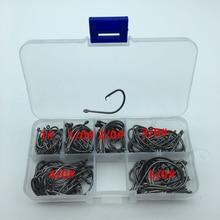 120pcs/box 1#-5/0# 6 size mix 7381 fishing Hooks Octopus Sport Cirle bait sea hook with box