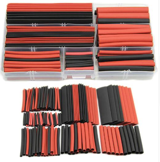 New 150pcs set 2:1 Polyolefin Heat Shrink Tubing Tube Sleeving Wrap Wire Kit Cable with CaseNew 150pcs set 2:1 Polyolefin Heat Shrink Tubing Tube Sleeving Wrap Wire Kit Cable with Case
