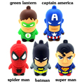 superhero avenger Superman Batman Spider Man Captain America pendrive Usb2.0 flash drive 8GB 16GB 32GB 64GB cartoon pen drive