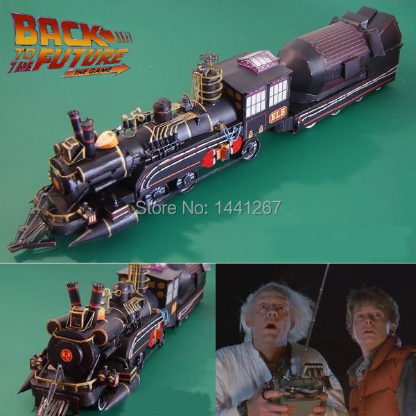 Movie Back To The Future Dr Barlett Train Sets Classic 3D Paper Model Railroader Paper Crafts Models Toys For Children