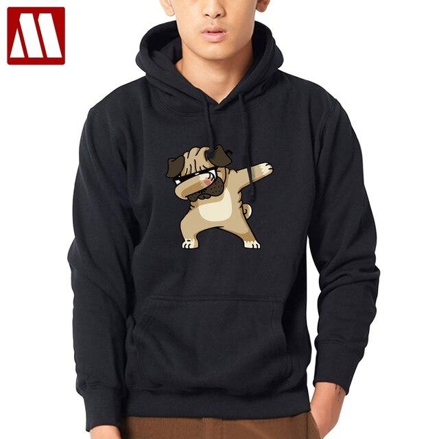 27629fb6a7c16a Moda zwierząt pies druku bluza bluzy mężczyzn Hip Hop swetry jesień Streetwear  bluza z kapturem bluzy