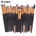 Aochern 2017 Nova 20 pcs Makeup Brush Set Eyeshadow Blending Brushes Foundation Pó Sobrancelha Eyeliner Brushes Cosméticos Ferramenta