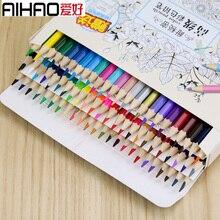 Получить скидку Aihao 48/72 масла Цветные карандаши рисовать записи карандаши школы и офиса студент канцелярские принадлежности
