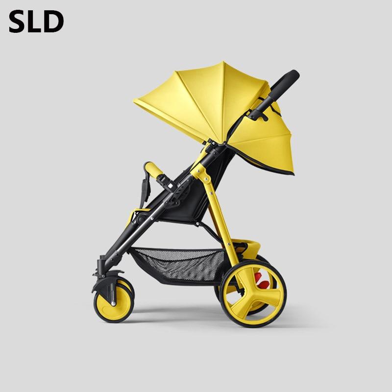 SLD cochecito de bebé diseño científico pliegues fácilmente y convenientemente 0-3 años, 7 kg capacidad de 25 kg marco de acero de ruedas de EVA - 2