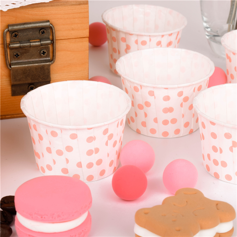 50 Pale Pink Tulip Shaped Muffin Cake Cases Wraps for Baking