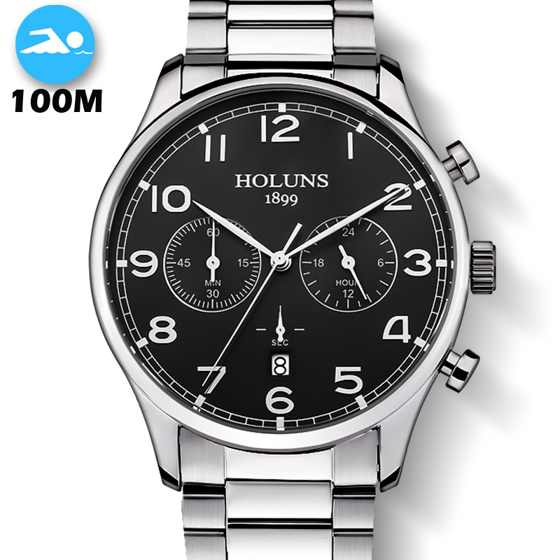 100M Waterproof Fashion Casual Brand Quartz <font><b>Watch</b></font> Men Military Stainless Steel <font><b>Sports</b></font> <font><b>Watches</b></font> Man Clock montre homme 2019 new image