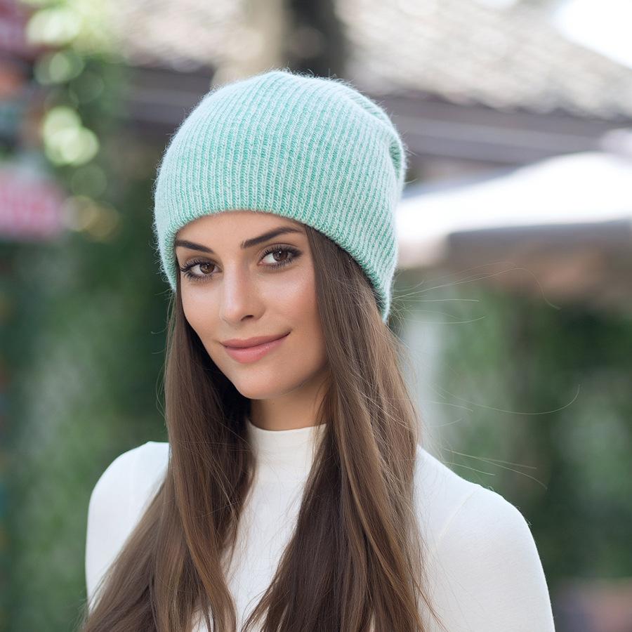 2017 New Autumn Winter Beanies Hats For Women Knitting Warm Wool Skullies Caps Ladise Hat Pompom Gorros (19)