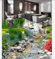 customized wallpaper for walls Home Decoration Garden floor painting pvc floor wallpaper 3d floor painting wallpaper