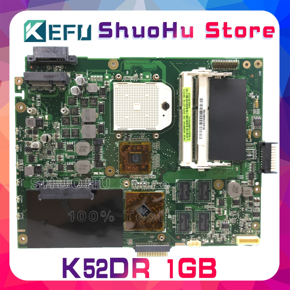 KEFU For ASUS K52DR K52D K52DE A52D A52DR A52DE 1GB Video HD5470 Laptop Motherboard Tested 100% work original Mainboard 1