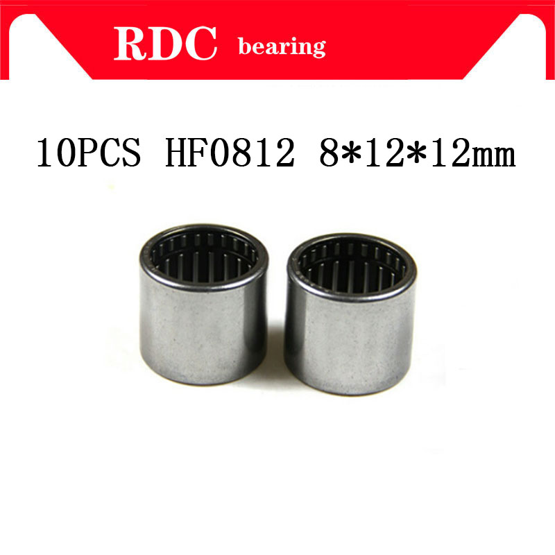 Free Shipping 10PCS HF0812 8*12*12 Mm High Quality Drawn Cup Needle Roller Bearing One Way Clutch For 8mm Shaft HF081212
