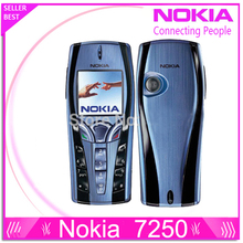 7250 Original Refurbished Nokia 7250 Mobile Phone Old Cheap Phone blue color free shipping