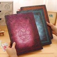 A4 livro de desenho caderno em branco do vintage espessamento notepad caderno de desenho livro rabisco Livro Mágico