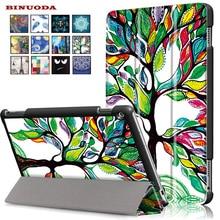 Folio Plegable Pintura Imán Sleep Función Wake Up M3 Cubierta Elegante Del Caso Del Soporte de Cuero para Huawei Mediapad 10.0 Lite Tablet