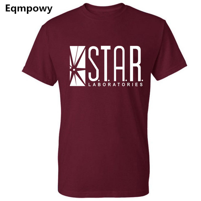 Eqmpowy 2018 NEW FLASHS superhero short sleeve   t     shirt   WHITE labs star lab jogging homme s summer jersey women man