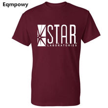 Eqmpowy 2018 NEW FLASHS superhero short sleeve t shirt WHITE labs star lab jogging homme s summer jersey women man(China)