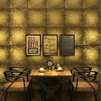 Lujo Lámina de Oro Wallpaper Wallpaper Rollos De Vinilo de Oro Plata de la tela escocesa de La Vendimia Tapices de pared de papel de Pared de Fondo Salón
