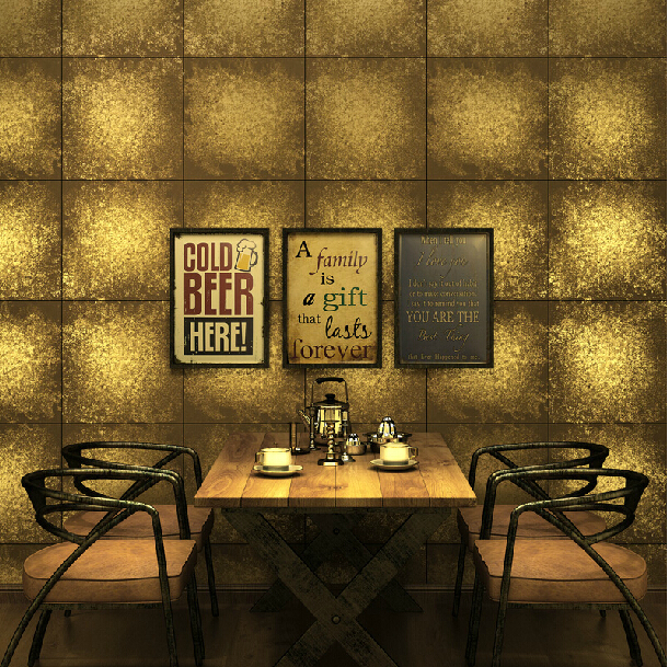 Luxury Gold Wallpaper Foil Golden Vinyl Wallpaper Rolls Vintage Silver plaid Wall paper for Living Room Background Wallcoverings акриловые обои hits wallcoverings vintage luxury sz001534