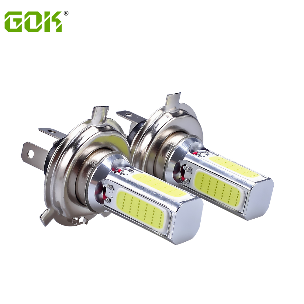 50X COB LED Lamp H4 led COB DRL Day Driving HeadLight h4 h11 h7 9006  Fog Bulb White Xenon White Car Super Bright Car-Styling 2pcs h4 hb2 9003 cob 4 led white auto car driving light lamp bulb dc 12 24v 6000k xenon white car super bright car styling
