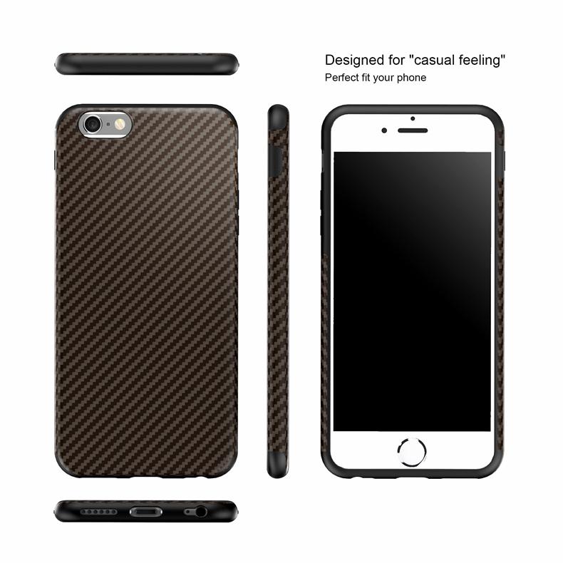 Najnowszy środowiska carbon fiber case dla iphone 6 6s plus miękkie antypoślizgowa anti-puk pokrywy dla iphone 7/plus skóra skóra torba 21