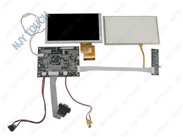 """Бесплатная доставка 6,2 """"TFT HSD062IDW1 ЖК-экран с сенсорной панелью плюс VGA AV контроллер плата комплект для автомобиля DVD GPS"""