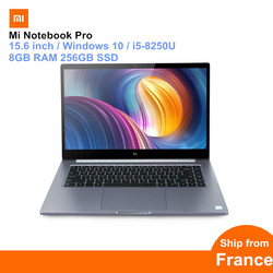 Xiaomi Mi Notebook Pro 15.6 inch Windows 10 Intel Core i5-8250U Quad Core 1.6GHz 8GB RAM 256GB SSD Fingerprint Recognition