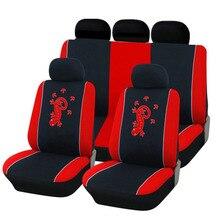 SEBTER Auto Polyester Stoff Stickerei Auto Sitzbezug Universal Fit Am Fahrzeug Zubehör Aktualisierte Version Salamander Muster