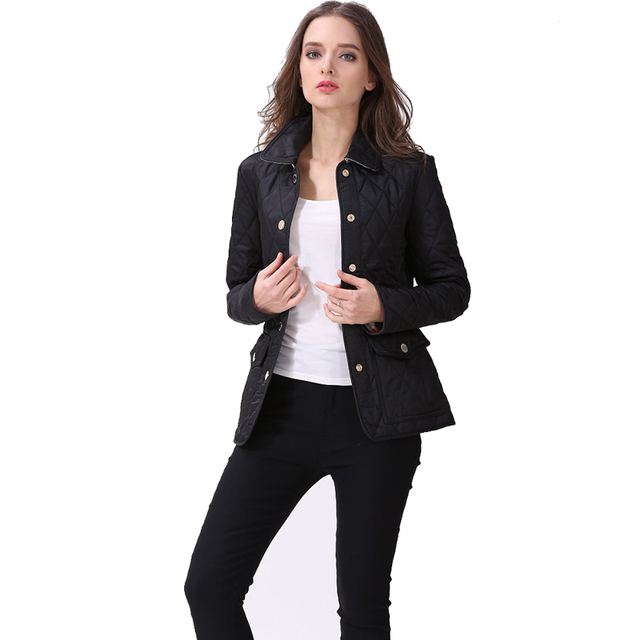 2018 New Quilted Jacket Women Plus Size 3xl Front Pocket Padded Coat