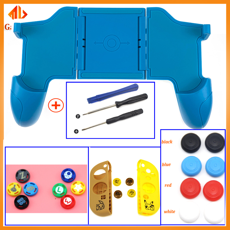 Black Stretch Clip for Nintend Switch Multifunction Gamepad Console Grip with Foldable Joystick 2 Game Card Storage socket